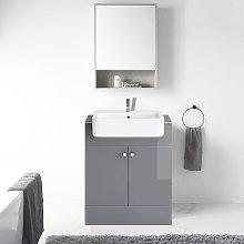 667mm Vanity Cabinet Basin Unit Floor Standing