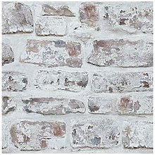 671100 Washed Wall Wallpaper, White - Arthouse