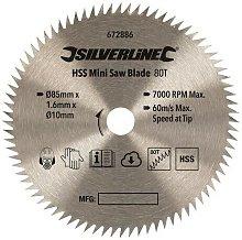 672886 HSS Mini Saw Blade 85mm Dia - 10mm Bore -