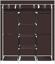 "69"" Fabric Canvas Wardrobe, Foldable Closet"