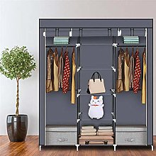 69 Inch Fabric Canvas Wardrobe, Foldable Closet