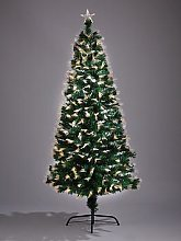 6Ft Multi Function Fibre Optic Tree (Warm White