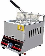 6L/12L Gas Deep Fryer,Stainless Steel Fat Fryer