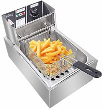 6L Stainless Steel Deep Fat Fryer with Thermostats