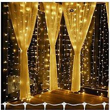 6M x 3M 600 LED Window Curtain Icicle Lights Warm