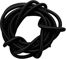 6mm Black Elastic Round Rubber Bungee Rope Shock
