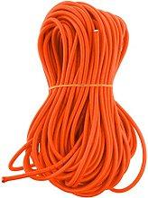 6mm Orange Elastic Round Rubber Bungee Rope Shock