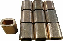 6MM, Oval Section, Copper Ferrules / Sleeves For