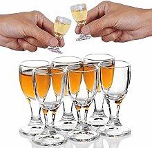6PACK 12ml 0.4oz Unique Mini Wine Shot Glasses Set