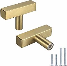 6Pack LONTAN Kitchen Cabinet knobs Brushed Brass