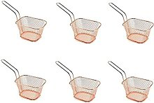 6PC Square French Fries Deep Frying Basket Metal