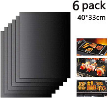 6PCS 100% Non-Stick Reusable and Easy to Clean BBQ