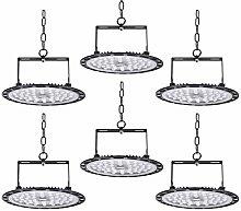 6pcs 200W UFO LED Lights LED Spotlight 21200lm