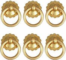 6pcs 3.5cm Antique Copper Furniture Ring Handle