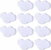 6pcs/8pcs/10pcs Cloud Door Cabinet Knob PVC