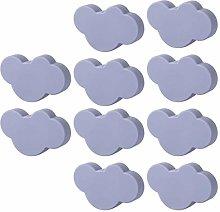 6pcs/8pcs/10pcs Cloud Door Cabinet Knob PVC