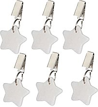 6PCS/8PCS Marble Tablecloth Clips with Pendant