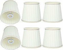 6Pcs Beige Fabric Chandelier Wall Lamp Shades