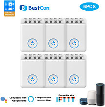 6PCS Bestcon MCB1 DIY Wifi Switch Wireless Smart