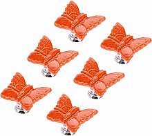 6pcs Butterfly Knobs Ceramic Drawer Handles