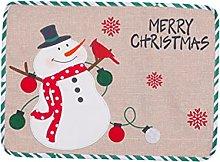 6pcs Christmas Placemats Sets,Non Slip Washable
