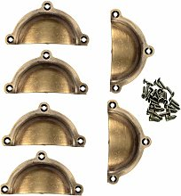 6Pcs Door Drawer Cabinet Iron Shell Cup Semicircle