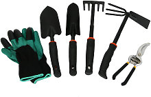 6pcs Gardening Hand Tools Set Trimmers Kit Gloves