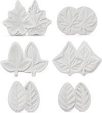 6Pcs/lot Flower Leaves Veiner Shape Soap Cupcake
