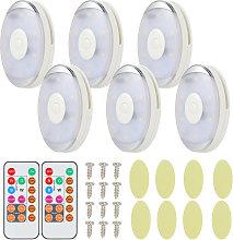 6pcs/pack RGB LED Under Cabinet Light Led Closet