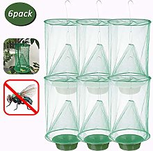 6PCS Ranch Fly Traps Non-Toxic Food Bait Flay