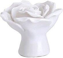 6pcs Rose Flower Handles Cabinet Ceramic Knobs