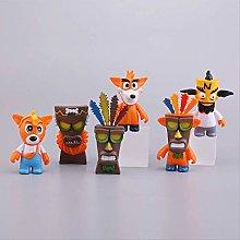 6pcs/set Crash Bandicoot Action Figure Toys PVC
