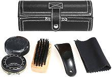 6PCS Shoe Polish Care Kit Leather Shoe Shine Set,
