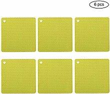 6pcs Silicone Table Mats Non-Slip Silicone Trivet