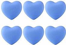 6pcs Soft Rubber Cartoon Heart Shape Cabinet