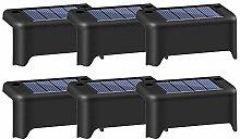 6pcs Solar Outdoor Waterproof Garden Stairs Fence