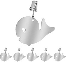 6pcs Stainless Steel Tablecloth Clips, Outer