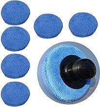 6Pcs Universal Blue Microfibre Foam Sponge Car
