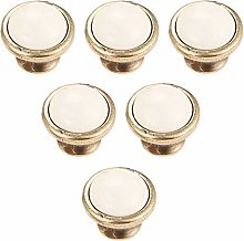6pcs White Ceramic Cabinet Knobs, Wardrobe Door