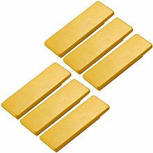 6pcs Yellow Wood Drawer Knobs Pulls Handles 64mm -