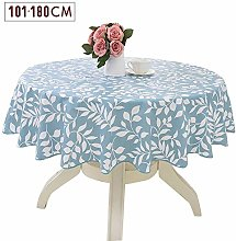 6SHINE Round PVC Tablecloth, Round Vinyl Table