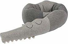 6Wcveuebuc 200cm Baby Bed Bumper Cartoon Crocodile