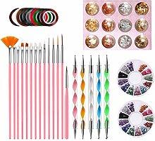 6Wcveuebuc Nail Art Brush Dotting Painting Pen