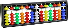 6Wcveuebuc Portable Arithmetic Soroban w/Colorful