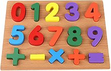 6Wcveuebuc Wooden Number/Alphabet Puzzle Board for