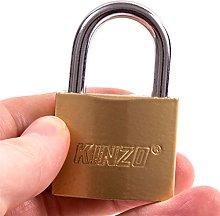 6X Brass 40mm Heavy Duty Padlocks + Security Keys