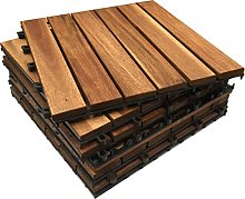 6X Extra Thick Wooden Interlocking Acacia Hardwood