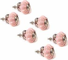 6X Luxury Baby Pink Ceramic Melon Furniture Door