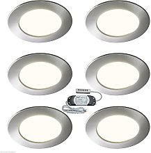 6x RECESSED LED KITCHEN UNDER CABINET CUPBOARD