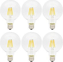 6X Vintage E27 G95 Edison Screw LED Bulb 6W